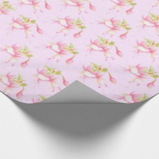 Pinkfarbene Blumen Geschenkpapier