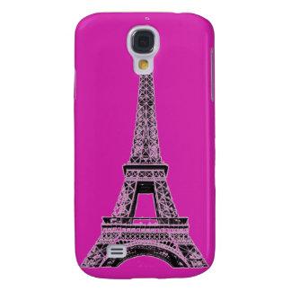 Pinkfarbene Eiffel-Turm-Telefon-Hüllen und Abdecku Galaxy S4 Hülle