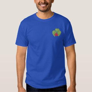 Pinkfarbene Knospe Besticktes T-Shirt