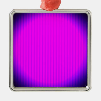 Pinkfarbene LED-Lampe Quadratisches Silberfarbenes Ornament