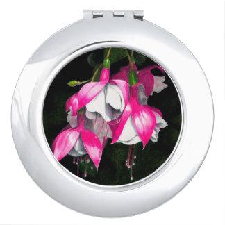 Pinkfarbener kompakter Spiegel Taschenspiegel