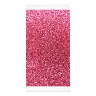 Pinkfarbener rosa Glitter Bild Karte