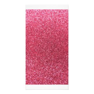 Pinkfarbener rosa Glitter Bilder Karten