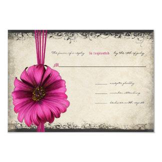 Pinkfarbenes Gerber Gänseblümchen-Hochzeit UAWG Karte