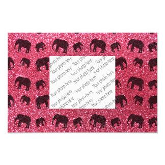 Pinkfarbenes Glittermuster des rosa Elefanten Fotos