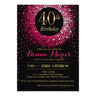 Pinkfarbenes Gold Geburtstages | des Glitz Bling Karte