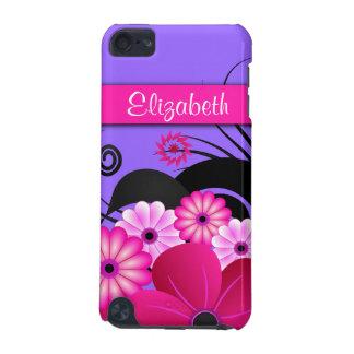 Pinkfarbenes heißes Rosa und lila BlumenHibiskus iPod Touch 5G Hülle