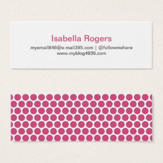 Pinkfarbenes modernes generisches einfaches mini visitenkarte