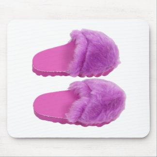PinkFuzzySlippers030310 Mousepad