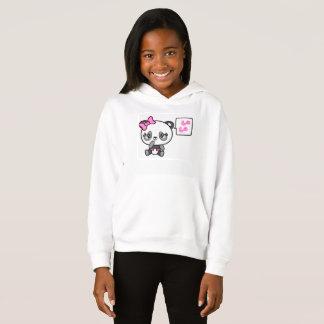 Pinkie-Pinky Panda-Mädchen-Fleece-PulloverHoodie Hoodie