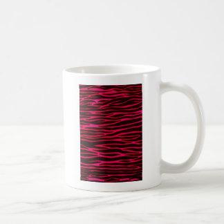 Pinkzebra-Streifen-Druck Kaffeetasse
