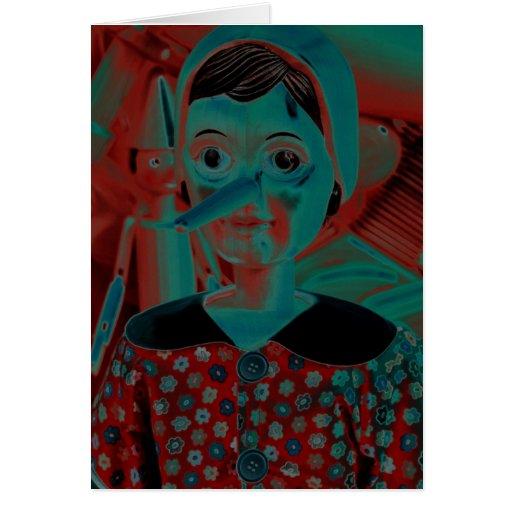 Pinocchio Marionette Grußkarte
