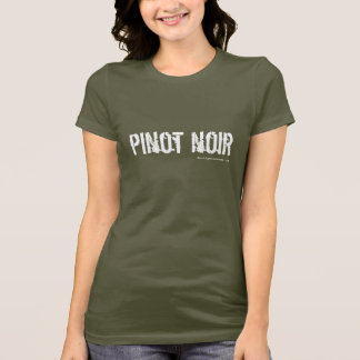 Pinot Noir Militär-ähnlicher T - Shirt - Olive