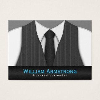 Pinstripe-Anzugs-Krawatten-große Visitenkarte