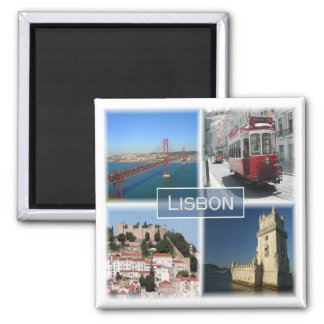 Pint * Portugal - Lissabon Portugal Quadratischer Magnet