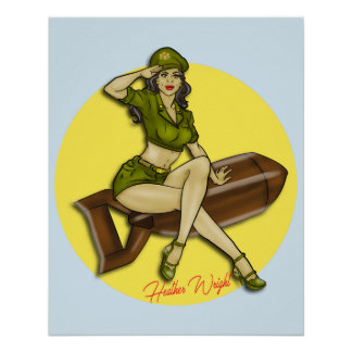 Pinup-Mädchen-Bombe, Latina Poster