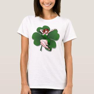 Pinup-Mädchen-Shirt-St Patrick Frauen Shirt-XXL T-Shirt