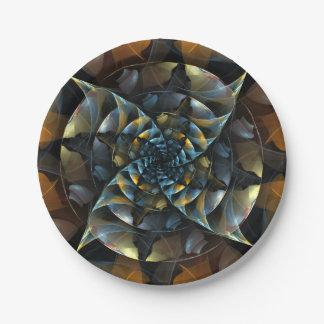Pinwheel-abstrakte Kunst Pappteller
