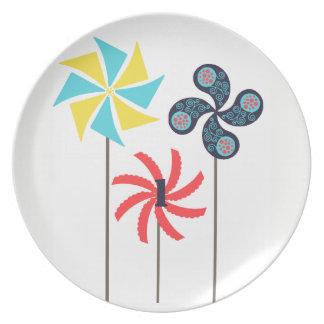 Pinwheel Melanine Platte Melaminteller