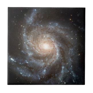 Pinwheelgalaxie Hubble Teleskop-Weltraum-Foto Fliese