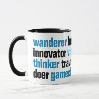 Pionier Gamechanger visionäre Träumer-Umbau-Wolke Tasse