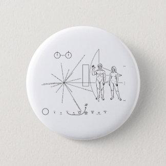 Pionierplakette für alien-Kontakt im Raum Runder Button 5,7 Cm