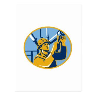 Pipefitter Wartungs-Gas-Arbeitskraft-Klempner Postkarte