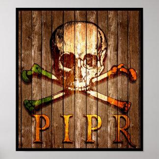 PIPR hölzernes Druck-Plakat Poster