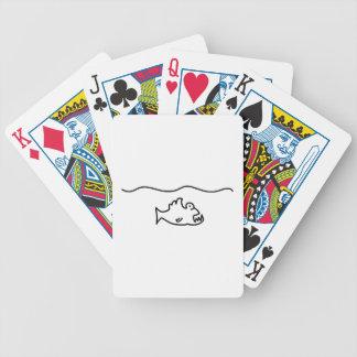 piranha biss fisch zahn bicycle spielkarten