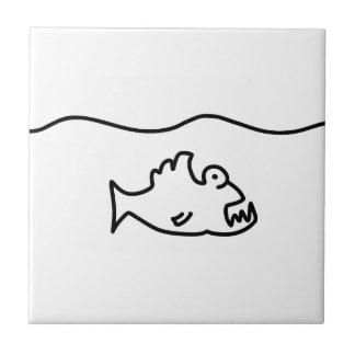 piranha biss fisch zahn keramikfliese