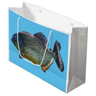 Piranha-Geschenk-Tasche Große Geschenktüte