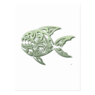 Piranha Postkarte