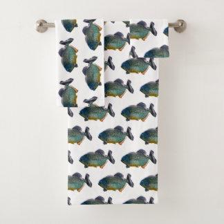 Piranha-Raserei-Badezimmer-Tuch-Set Badhandtuch Set