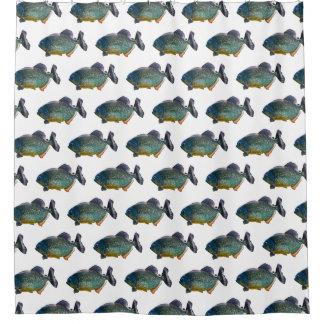 Piranha-Raserei-Duschvorhang (wählen Sie Farbe) Duschvorhang