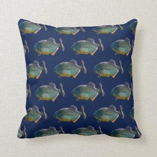 Piranha-Raserei-Kissen (Marine) Kissen