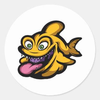 Piranha Runder Aufkleber