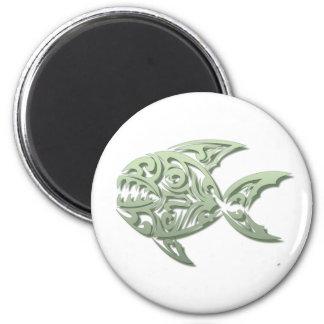 Piranha Runder Magnet 5,1 Cm