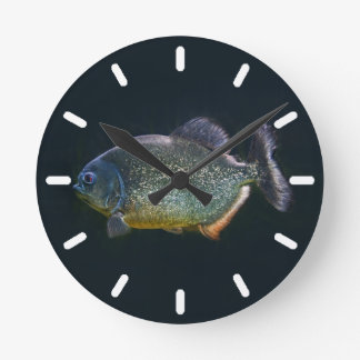 Piranha-Uhr 2 Runde Wanduhr