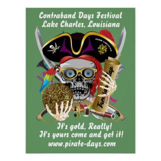 """Pirat 20"""" hintere Ansicht X 26"""" 35 Farbungefähr Poster"""