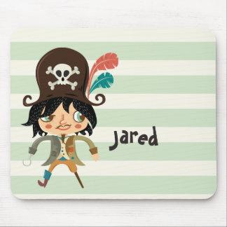 Pirat auf grünen Pastellstreifen Mauspads