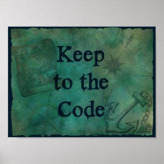 Pirat behalten zum Code Poster