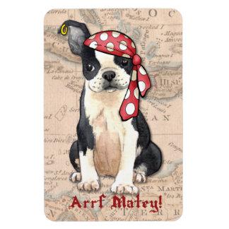 Pirat Bostons Terrier Magnet
