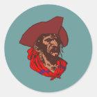Pirat Buccaneer corsair pirate Runder Aufkleber