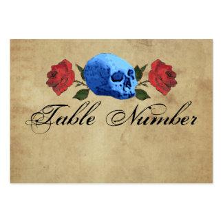 Pirat/gotische/Felsen-Tischnummer-Karten Mini-Visitenkarten