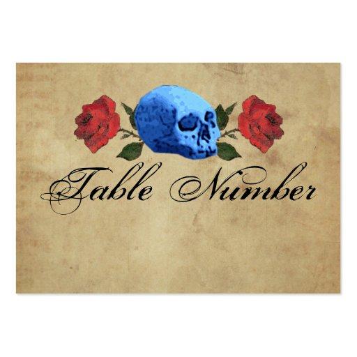 Pirat/gotische/Felsen-Tischnummer-Karten Visitenkarten Vorlage
