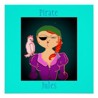 Pirat Jules der Öko-Pirat - Plakat Poster