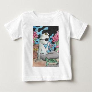 Pirat Mercat und Schildkröte Baby T-shirt