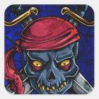 Pirat Quadratischer Aufkleber