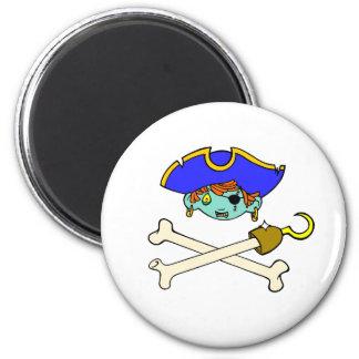 Pirat Runder Magnet 5,7 Cm