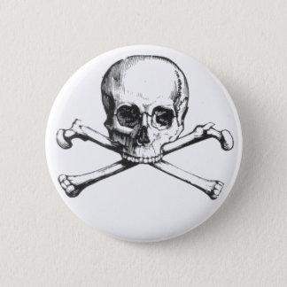 Pirat Schädel und Crossbone Runder Button 5,7 Cm